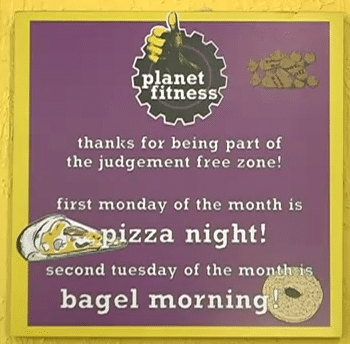 Planet Fitness Pizza Bagel