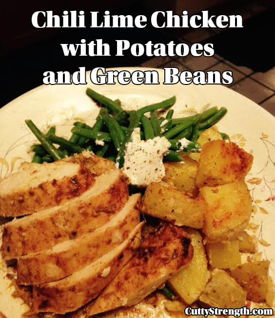 Chili Lime Chicken with Potatoes and Green Beans