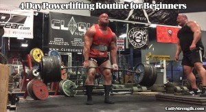 4 Day Powerlifting Routine for Beginners