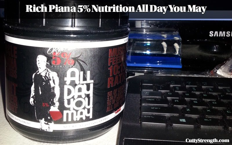 Product Review: Rich Piana 5% Nutrition All Day You May