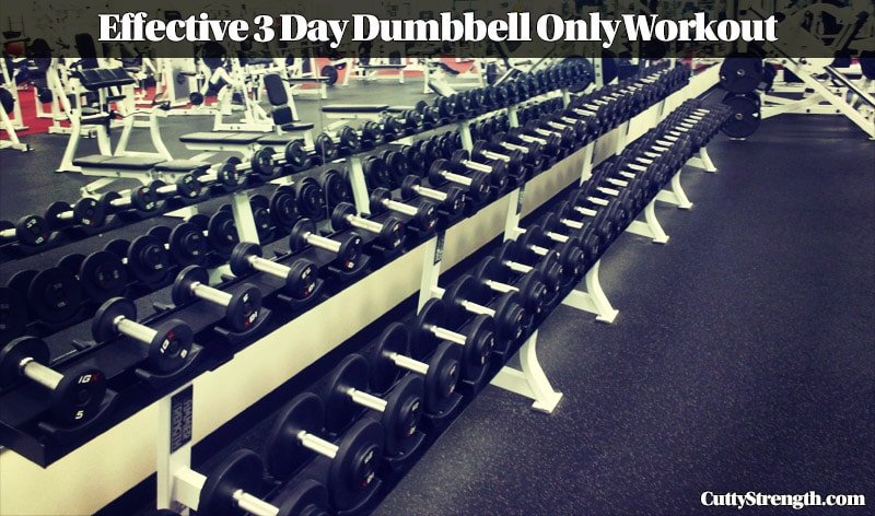 Effective 3 Day Dumbbell Only Workout