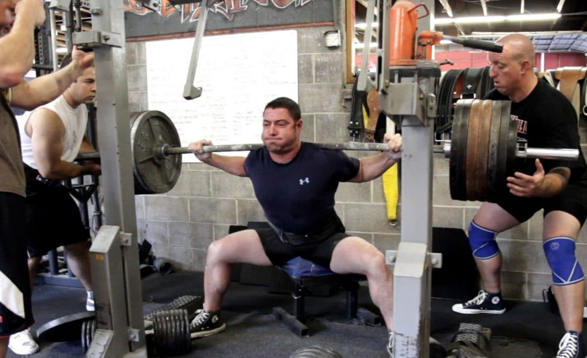 Deadlift Stance Box Squats with Pause